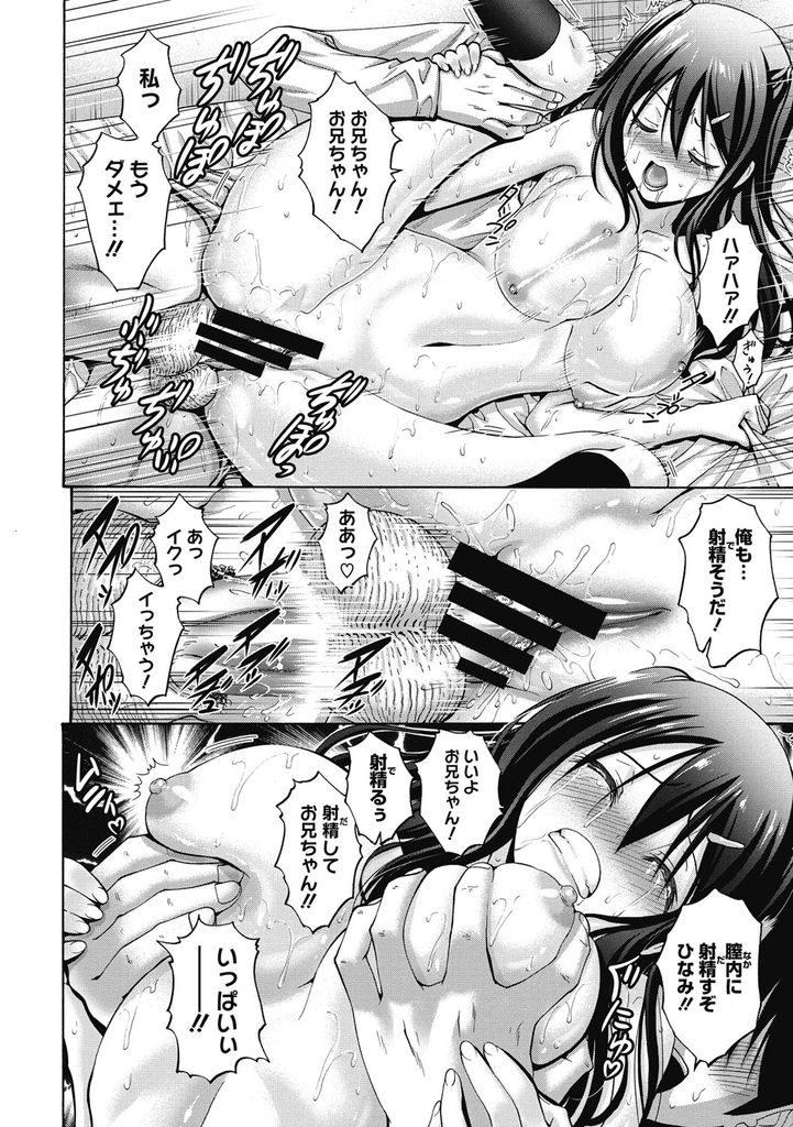 【エロ漫画】幼い頃に親のHを見て以来毎日のようにお互いを弄り合う兄妹...両親が旅行でいない間に大きな声を漏らして激しい中出しセックス【西川康:今日もどこかで妹と】