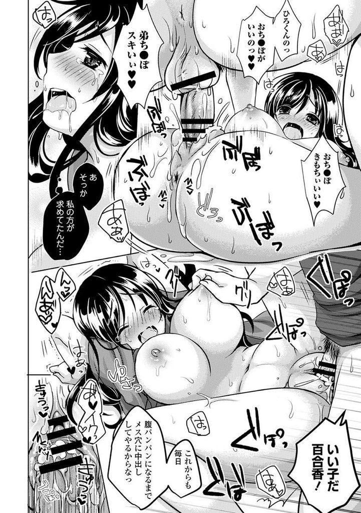 【エロ漫画】些細なきっかけで弟の言いなりになってしまった巨乳な女子大生の姉…彼氏と初めてのHをハメ撮りさせ映像を見ながら孕ませ中出しセックス【めの子:姉☆コン】