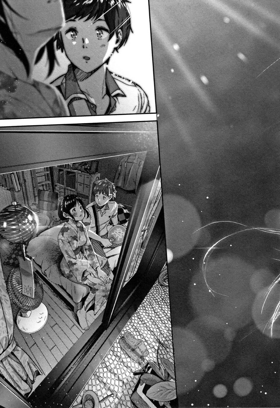 【エロ漫画】夏祭りデート後に彼氏とお泊りする浴衣JK…花火後にすっかり雰囲気の良くなった二人はディープキスし合ってイチャラブセックスに発展。手マンでオマンコをほぐし、正常位で生挿入セックス!【じょろり:夏と純】